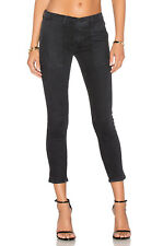 BLACK ORCHID Patch Pocket Ankle Crop Slim Skinny Jeans Faded Black 26 $175 #333