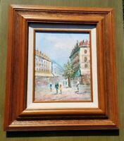 Caroline Burnett Parisian Street Scene Painting