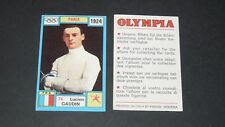 74 1924 GAUDIN FRANCE PANINI OLYMPIA 1896-1972 JEUX OLYMPIQUES OLYMPIC GAMES