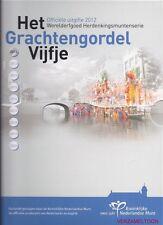 NEDERLAND 2012: HET GRACHTENGORDEL VIJFJE PP ZILVER PROOF