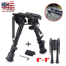 "Adjustable 6-9"" Legs Sniper Hunting Rifle Bipod Sling Swivel Mount + Adapter"