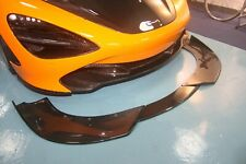 3 pieces design Carbon Fiber front splitter lip fit McLaren 2018 720S Coupe