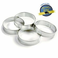 4 Pc English Muffin Mold Crumpet Biscuit Cookie Rings Cutter Set Egg Baking Cups