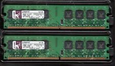 KINGSTON KVR533D2N4K2/1G DDR2-533 CL4 1GB KIT (2X512MB) RAM MODULE - NICE!