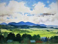 Very Fine Modern Acuarela Pintura. Brecon Beacons. Brecon Castillo