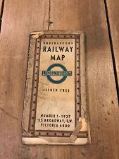 More details for london transport 1937 railway map number 1