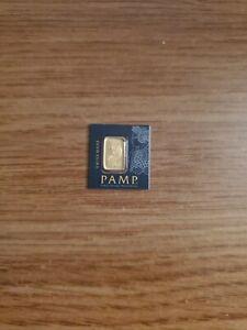 PAMP SUISSE GOLD 1 GRAM FORTUNA BAR SEALED 1 G