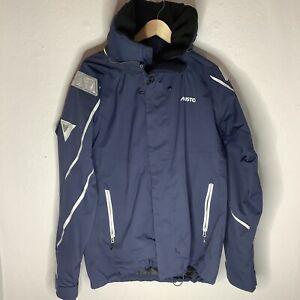 Musto BR1 Blue Hooded Mens Jacket Waterproof/Breathable Winterwear Size Large