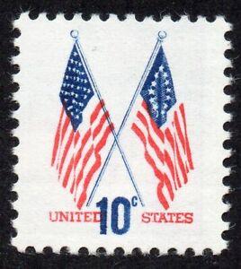 1509 10c Flag blue color shift MNH