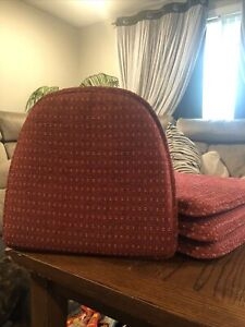 Padded Non-Slip Chair Cushions Patio Indoor/Outdoor Dining SET Of 4 Deck Red
