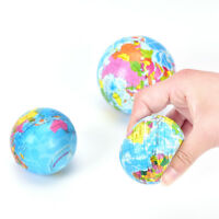 Stress Relief Vent Ball World Map Squeeze Hand Wrist Exercise Geograpy LearninSP