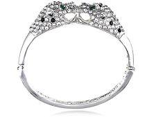 Gold Blk Fashion Clear Crystal Rhinestone Twin Lion Cuff Bracelet Bangle GB