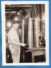 1917 Manufacturing Artillery Cartridge Cases in USA Original Press Photo
