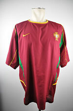 2002-04 Portugal Trikot Gr. XLNike Nationalmannschaft F.P.F Jersey WM EM