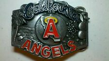 California Angels Pewter and Enamel Belt Buckle. LIMITED EDITION Number 725