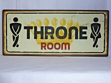 METAL THRONE ROOM DOOR SIGN LADIES AND GENTS TOILET PLAQUE
