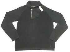 $79 NWT Mens Nautica 1/4 Zip Shawl Neck Thermal Knit Sweater Navy Blue Sz M N290