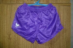Erima Football Sport Shorts 80s 1980s 90s Nylon Polyamid Purple Men Size 7  L/XL