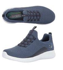 Skechers Mens Ultra Flex Low Top Pull on Walking Shoes Navy Size 8.5