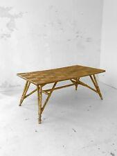 1950 AUDOUX-MINET GRANDE TABLE A DINER MODERNISTE CONSTRUCTIVISTE