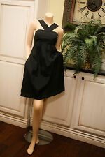 The Limited EVENT Empire Waist Sleeveless COCKTAIL Little Black Dress LBD 8 EUC