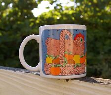 Taylor & NG 1981 Coffee Mug Cup Chicken in a Basket Hen Chick Apple Japan