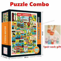 See America Jigsaw Puzzles 1000 Pieces For Adults Kids Learning Education Fun