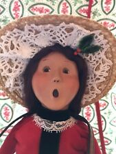 Byers Choice Caroler Selling Holly and Ivy