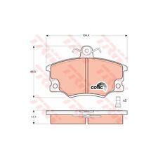 TRW gdb458 Pinza Freno Set, Freno a disco COTEC anteriore per FIAT TIPO REGATA