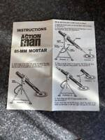 VINTAGE PALITOY ACTION MAN 81-MM MORTAR INSTRUCTIONS LEAFLET VGC FOR AGE