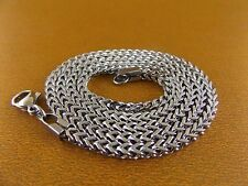 """Women/Men's Stainless Steel Necklace 24""""3mm Chain Cubic Link Charm Jewelry Cool"""