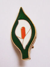 Large 40mm Easter Lily Enamel Pin Badge - Irish Republican Rebel 1916 Rising