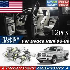 12X LED For Dodge Ram 2003 - 2008 Car Interior Lights Kit Map Dome License Lamps