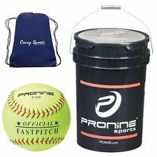 *ProNine 11 Inch Fastpitch Softballs in Bucket (24 Balls) (Free 2Day)