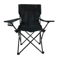 Folding Camping Chair Picnic Beach Outdoor Portable Seat Black Closeout