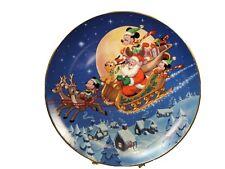 Bradford Exchange Disney Mickey's Holiday Magic Santa's Favorite Helpers.