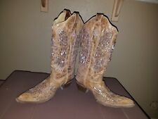 Corral Vintage Brown Boots Cross