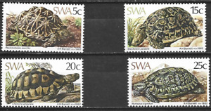 SOUTH WEST AFRICA -1982 Tortoises - MINT UNHINGED COMPLETE SET.