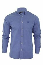Fred Perry Men's Check Regular Button Down Casual Shirts & Tops