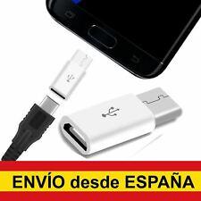 Adaptador Micro USB a USB Tipo C Carga Datos para XIAOMI SAMSUNG HUAWEI blanco