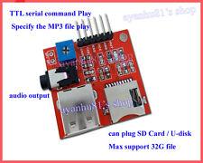 SD/TF Card MP3 Voice Module U-disk Audio Sound Player Serial Control für Arduino