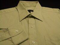 Robert Talbott Mens sz 15.5 Long Sleeve Button-Front Green Plaid Check Shirt