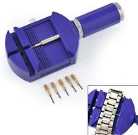 Wrist Bracelet Watch Band Link Strap Remover Adjuster+5 Pins Repair Tool Set