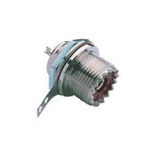 Fiche Chassis UHF  PL259 UHF Qualité Chromé Connections à Souder Percage 15,5 mm