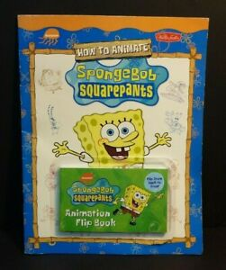 SpongeBob Squarepants How to Animate Booklet With Animation Flip Book 2004