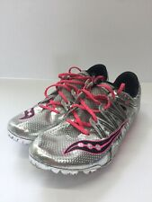 Saucony Showdown Track Spikes Pink Silver Excellent Condition Womens Size 8