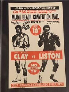 1965 Original Cassius Clay Vs. Sonny Liston Boxing Flier Muhammad Ali Handbill