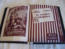 Chicago Stagebill Binder w / 17 Stagebills from 1940's
