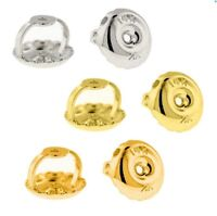 1Pair Screw Back Earring Replacement Back Nut 14k Solid Gold or Single W, Y or R