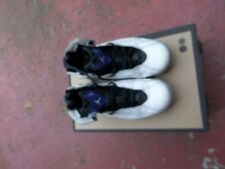 USED mens SIZE 8.5 MICHEAL JORDAN  GOOD CONDITION  BLACK PURPLE WHITE GREY 23